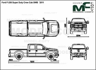 F250 Bumper Blueprints : Ford f super duty crew cab swb drawing