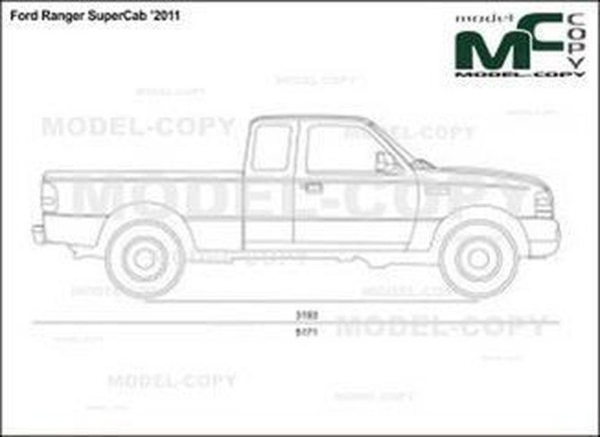 ford ranger supercab  u20192011 - dibujo - 24277