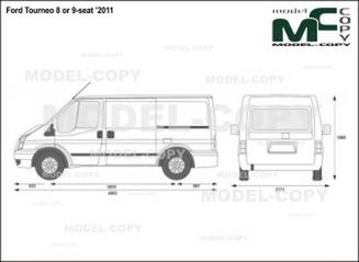 Ford Tourneo 8 or 9-seat '2011 - drawing