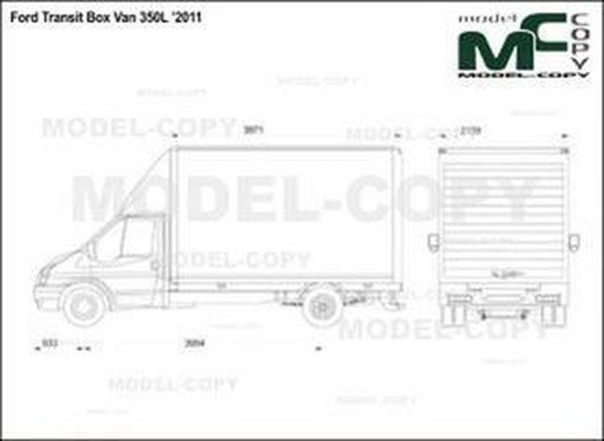 Ford Transit Box Van 350L '2011 - drawing