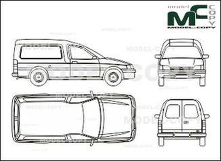 Ford Escort Express, 1,4 l PT-E, 1,8 l OHC - drawing