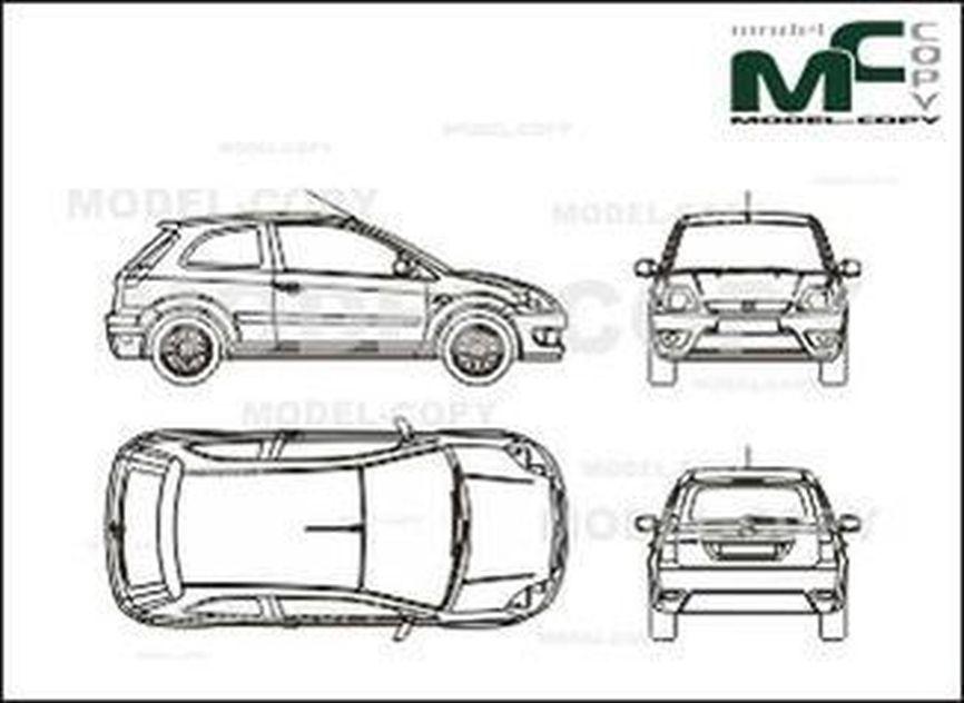 Ford Fiesta St Fiesta Sport 2005 Drawing