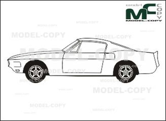 ford mustang shelby gt 500  u0026 39 1969 - drawing - 26362