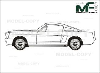 ford mustang shelby gt 500 eleanor 39 1967 dessin. Black Bedroom Furniture Sets. Home Design Ideas