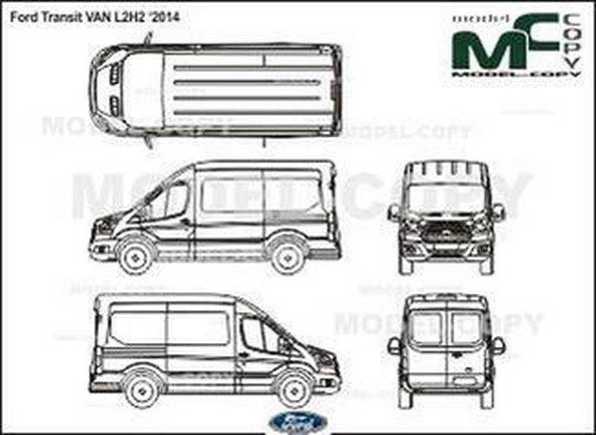 ford transit van l2h2  u20182014 - drawing - 36437
