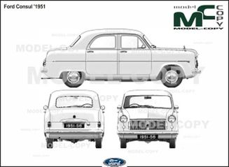 Ford Consul '1951 - 2D drawing (blueprints)