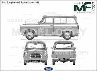 Ford E Anglia 100E Squire Estate '1958 - 2D drawing (blueprints)