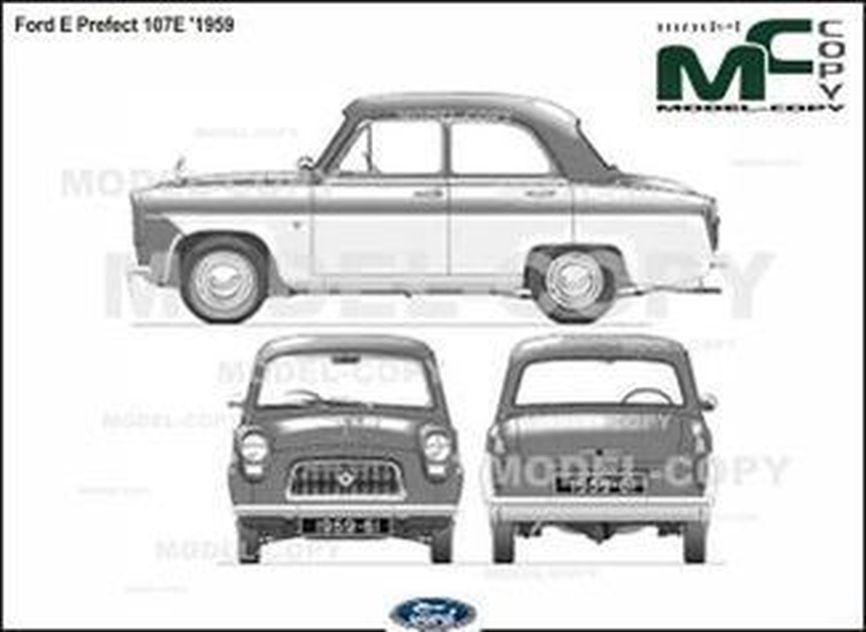 Ford E Prefect 107E '1959 - drawing