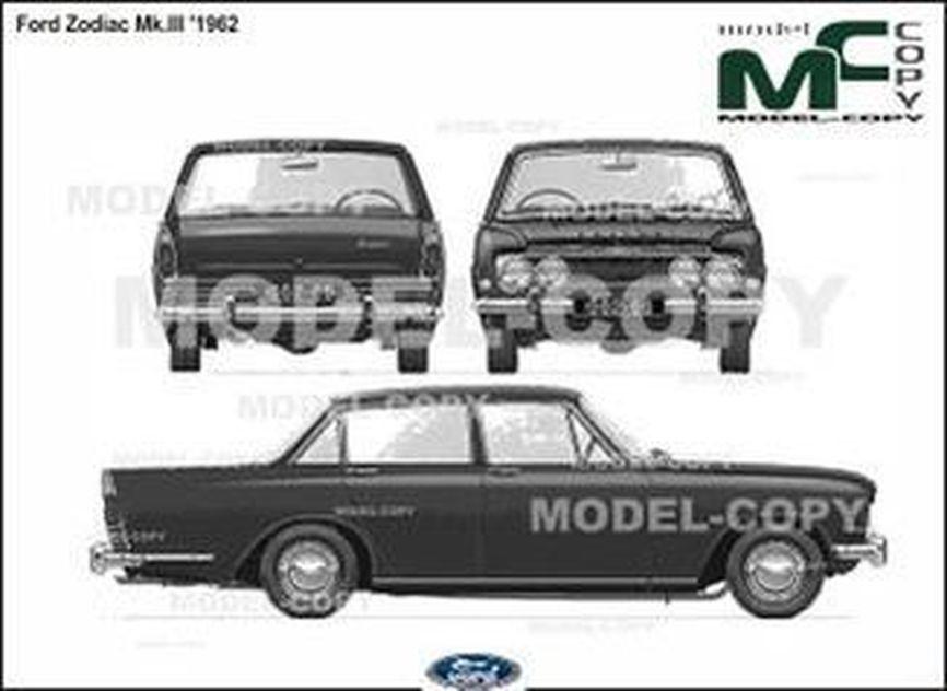 Ford Zodiac Mk.III '1962 - 2D drawing (blueprints)