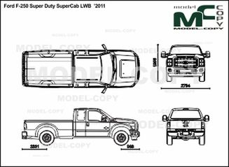 Ford F-250 Super Duty SuperCab LWB '2011 - 2D drawing (blueprints)