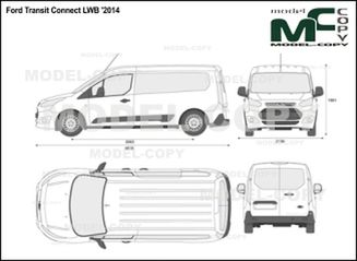 Ford Transit Connect LWB '2014 - 2D drawing (blueprints)