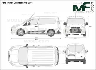 Ford Transit Connect SWB '2014 - 2D drawing (blueprints)