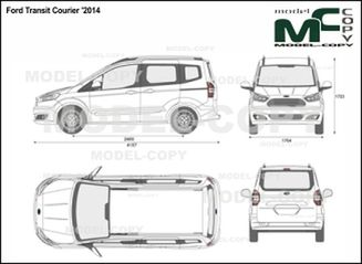 Ford Transit Courier '2014 - 2D drawing (blueprints)