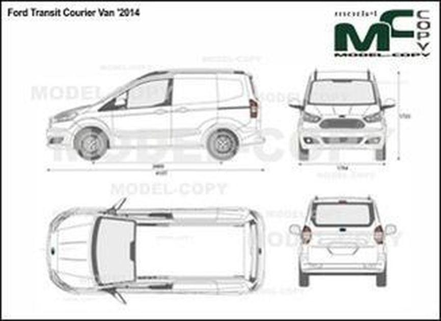 Ford Transit Courier Van '2014 - 2D drawing (blueprints)
