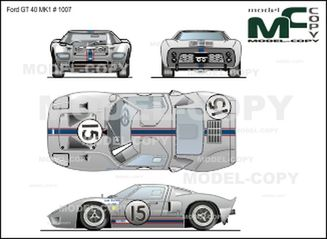 Ford GT 40 MK1 # 1007 - 2D drawing (blueprints)