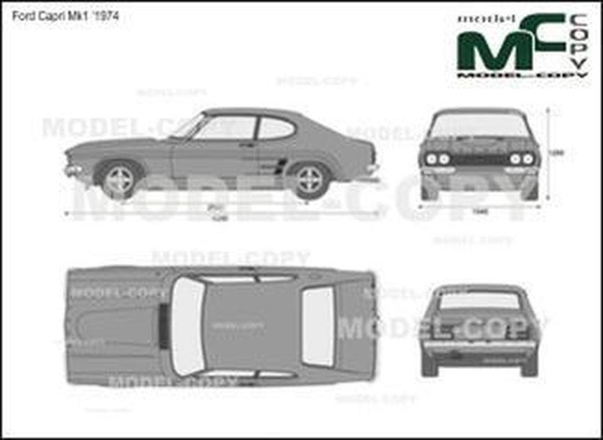 Ford Capri Mk1 '1974 - drawing