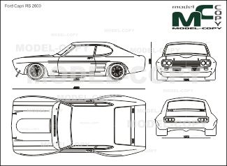Ford Capri RS 2600 - drawing