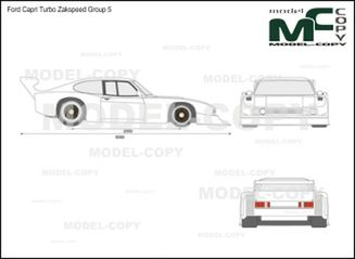Ford Capri Turbo Zakspeed Group 5 - drawing