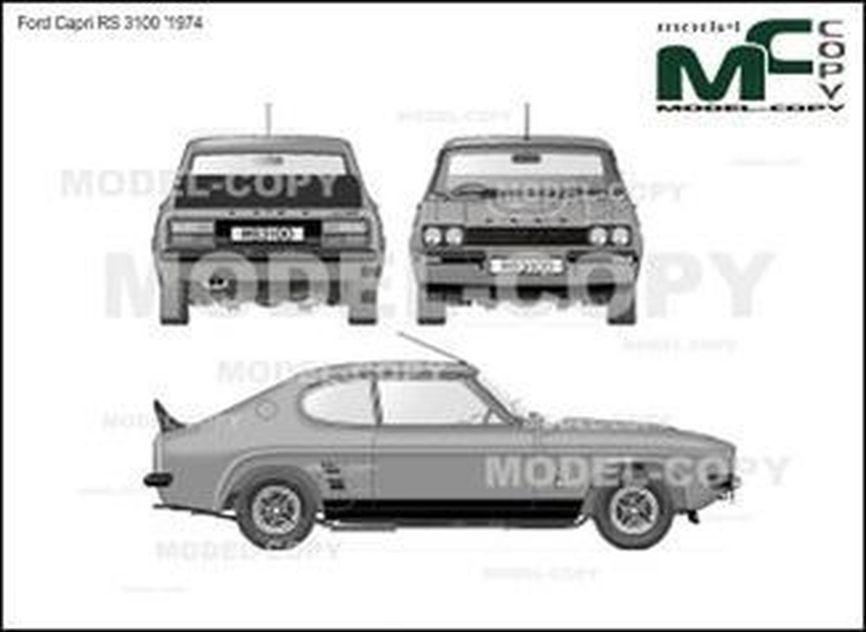 Ford Capri RS 3100 '1974 - drawing