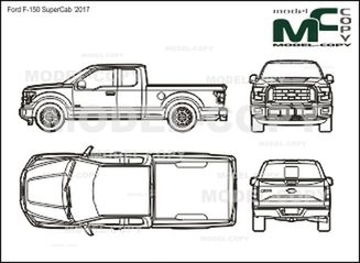 Ford F-150 SuperCab '2017 - drawing