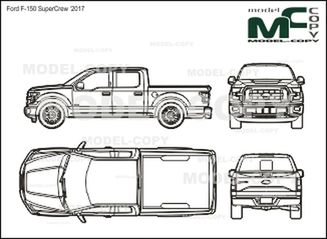 Ford F-150 SuperCrew '2017 - drawing