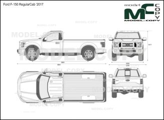 Ford F-150 RegularCab '2017 - drawing