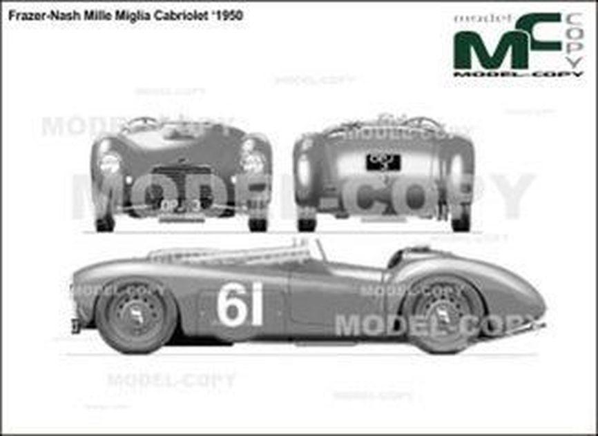 Frazer-Nash Mille Miglia Cabriolet '1950 - drawing