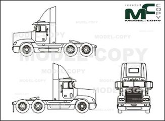 freightliner fld 120 conventional  tractor - drawing - 25706
