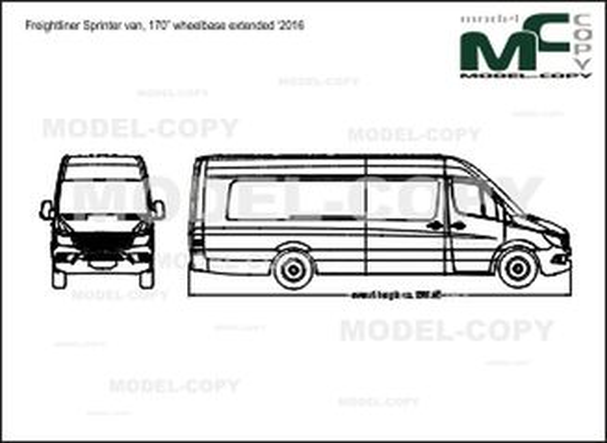 "Freightliner Sprinter van, 170"" wheelbase extended '2016 - drawing"