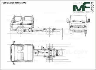 FUSO CANTER 4.0t FE150W2 - drawing