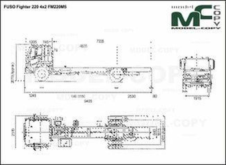 FUSO Fighter 220 4x2 FM220M5 - 2D drawing (blueprints)