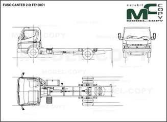 FUSO CANTER 2.0t FE160C1 - drawing
