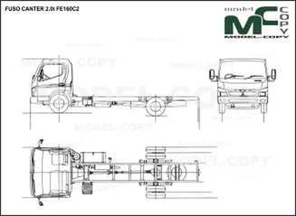 FUSO CANTER 2.0t FE160C2 - drawing