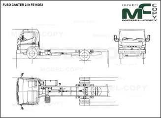 FUSO CANTER 2.0t FE160E2 - drawing