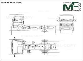 FUSO CANTER 3.5t FE160E3 - drawing