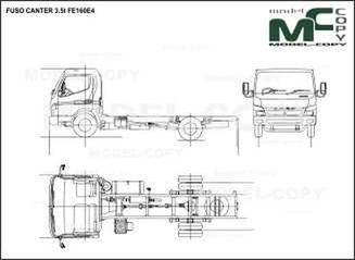 FUSO CANTER 3.5t FE160E4 - drawing
