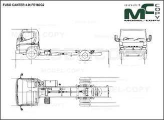 FUSO CANTER 4.0t FE160G2 - drawing