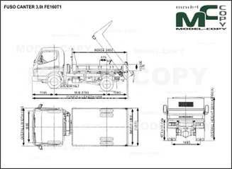 FUSO CANTER 3.0t FE160T1 - drawing
