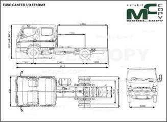 FUSO CANTER 3.5t FE160W1 - drawing