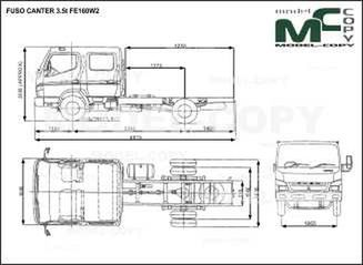 FUSO CANTER 3.5t FE160W2 - drawing