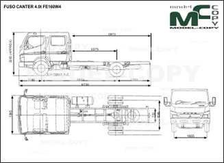 FUSO CANTER 4.0t FE160W4 - drawing