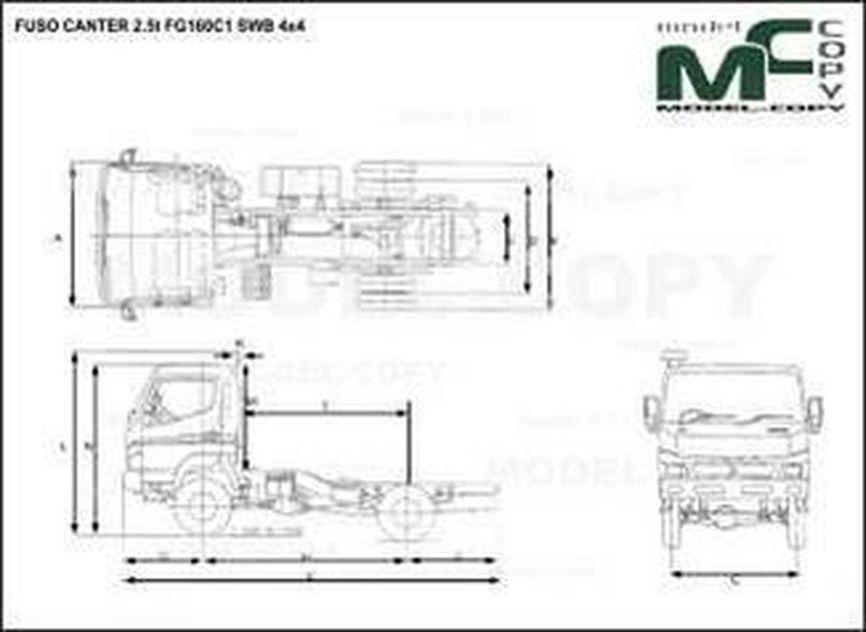 FUSO CANTER 2.5t FG160C1 SWB 4x4 - drawing