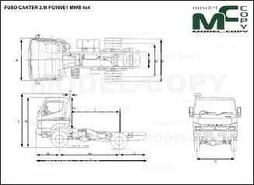 FUSO CANTER 2.5t FG160E1 MWB 4x4 - drawing