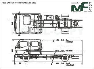 FUSO CANTER 7C18D DUONIC 2.0 L '2020 - drawing