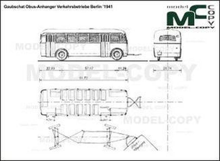 Gaubschat Obus-Anhanger Verkehrsbetriebe Berlin '1941 - 2D drawing (blueprints)
