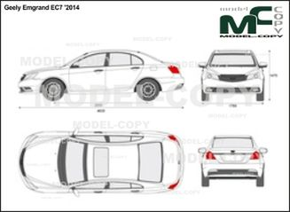 Geely Emgrand EC7 '2014 - 2D drawing (blueprints)