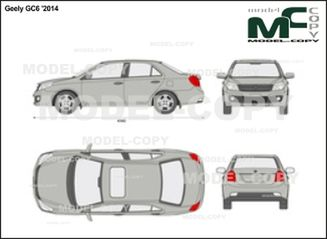 Geely GC6 '2014 - 2D drawing (blueprints)