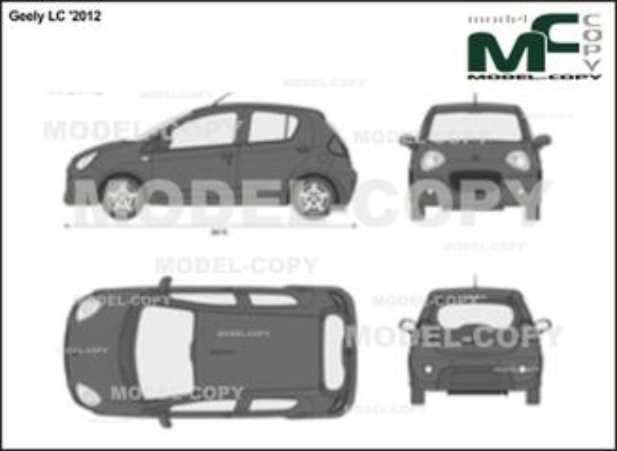 Geely LC '2012 - 2 ಡಿ ಡ್ರಾಯಿಂಗ್