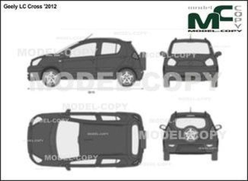 Geely LC Cross '2012 - 2D図面