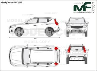 Geely Vision X6 '2016 - 2D drawing (blueprints)